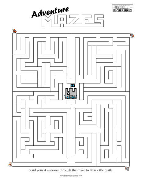 adventure maze game top worksheets