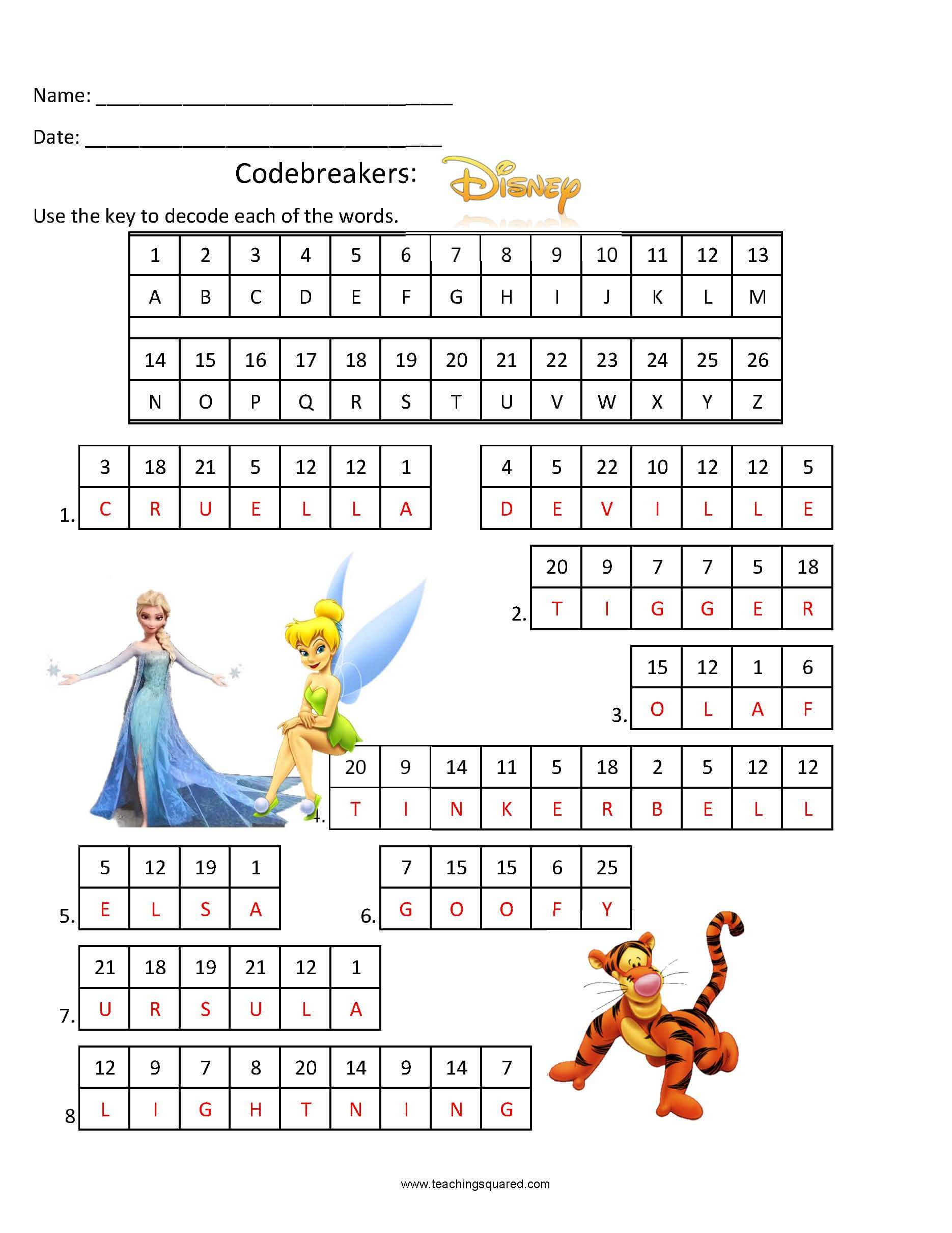 Codebreakers- Disney Fun Puzzle for kids
