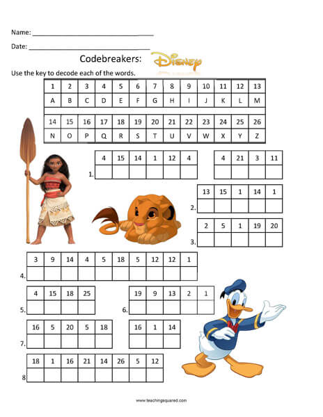 Codebreakers: Disney top fun activity