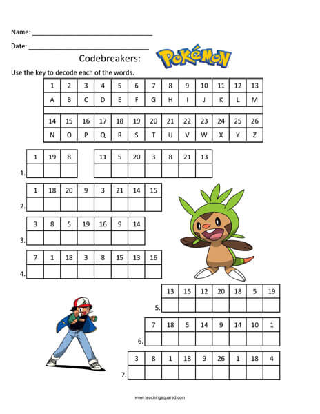 Codebreakers: Pokemon top fun activity
