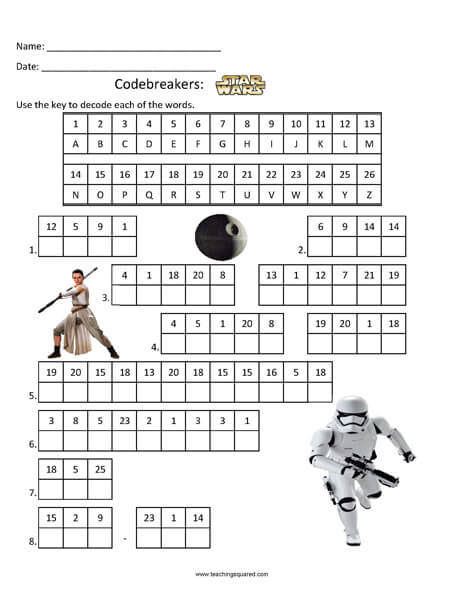 Codebreakers: Star Wars top fun activity