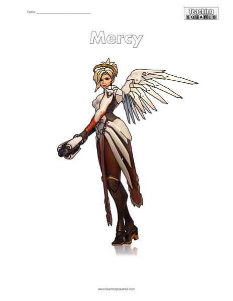 Mercy Coloring Page