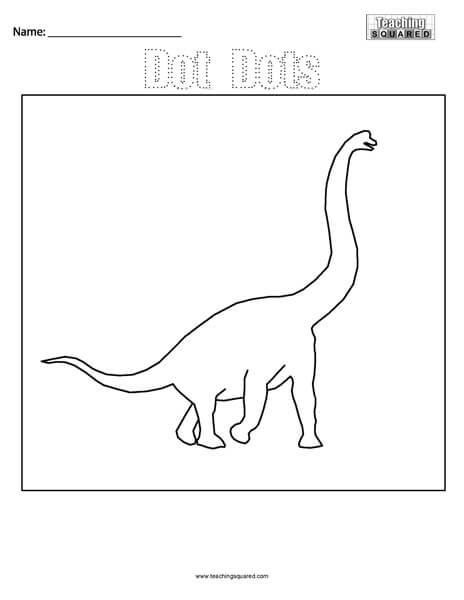 Dot Dots- Dinosaur Connect the Dots