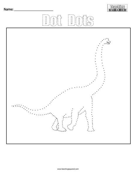 Dinosaur- Dot Dots Connect the Dots