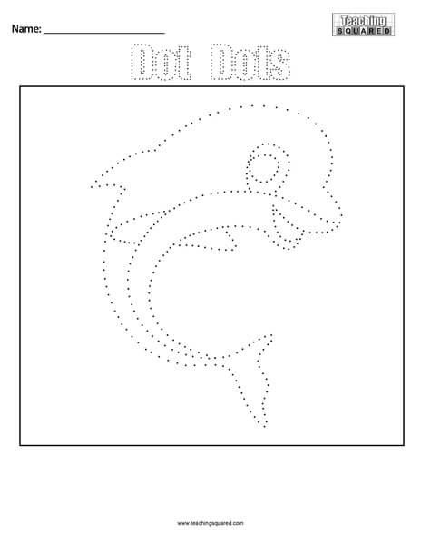 Dolphin- Dot Dots Connect the Dots