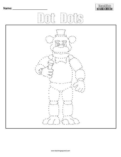 Freddy Fazbear- Dot Dots Connect the Dots Five Nights at Freddys