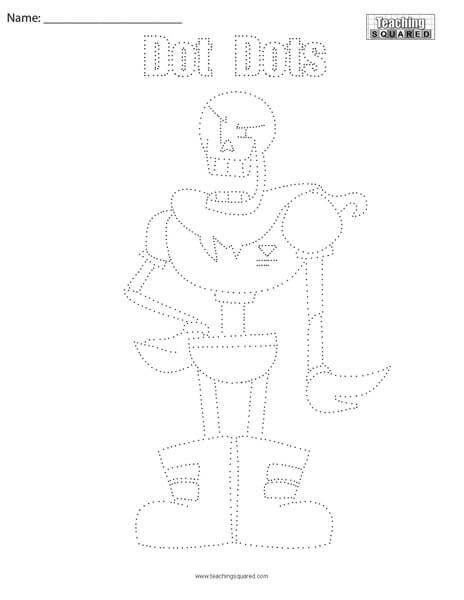 Papyrus Undertale- Dot Dots Connect the Dots