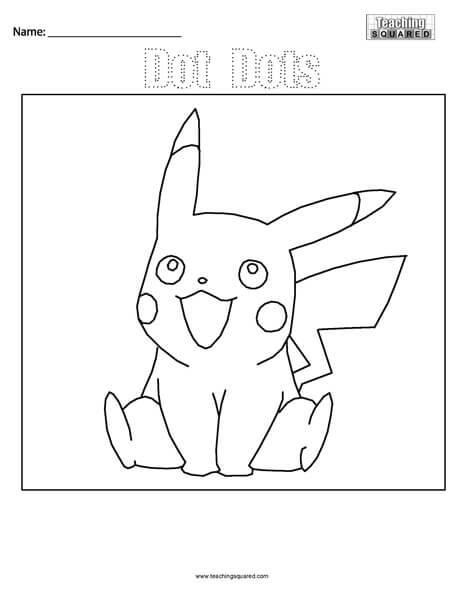 Pikachu Pokémon Dot Dots