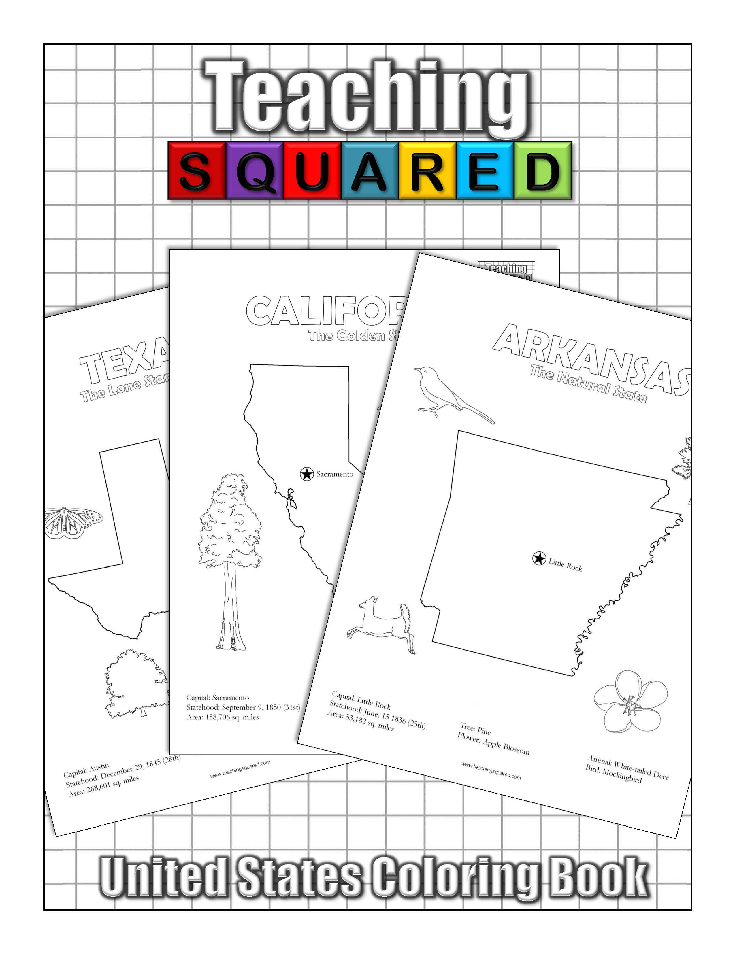 United States Coloring Book - Teaching Squared