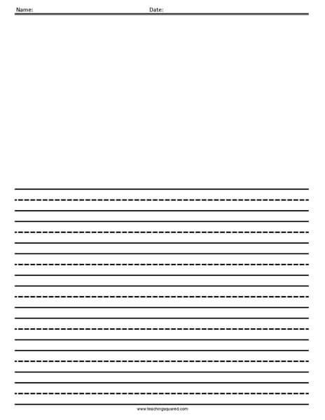 Lined Paper-  Handwriting, Penmanship, Cursive, Worksheet