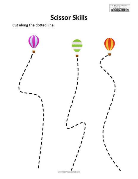 Scissor Skills-  Download this free paper to practice scissor skills
