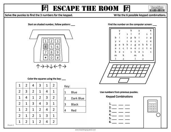 free escape room lesson plans pdf
